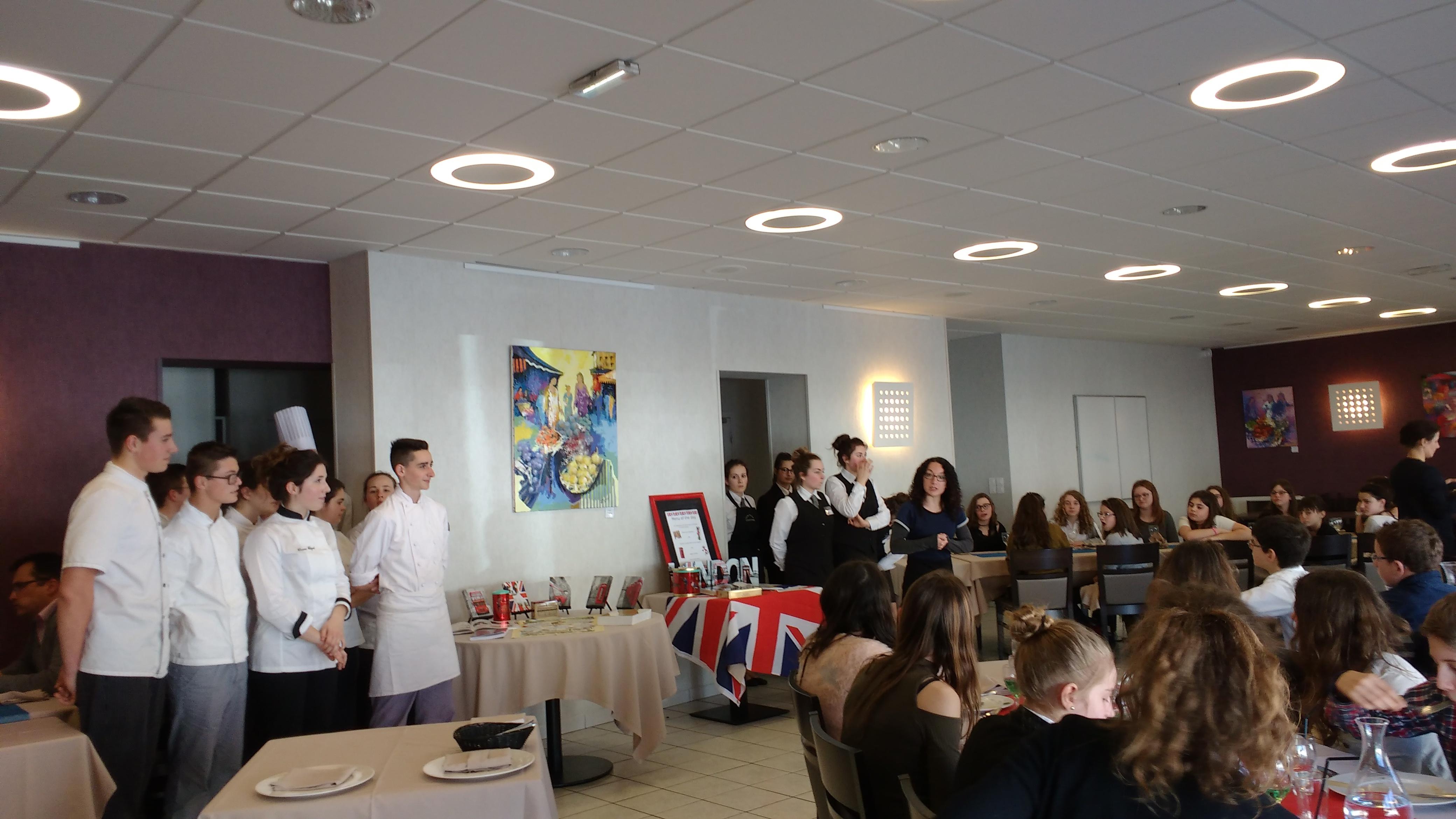 Sortie au Lycée Hôtelier «At the restaurant»