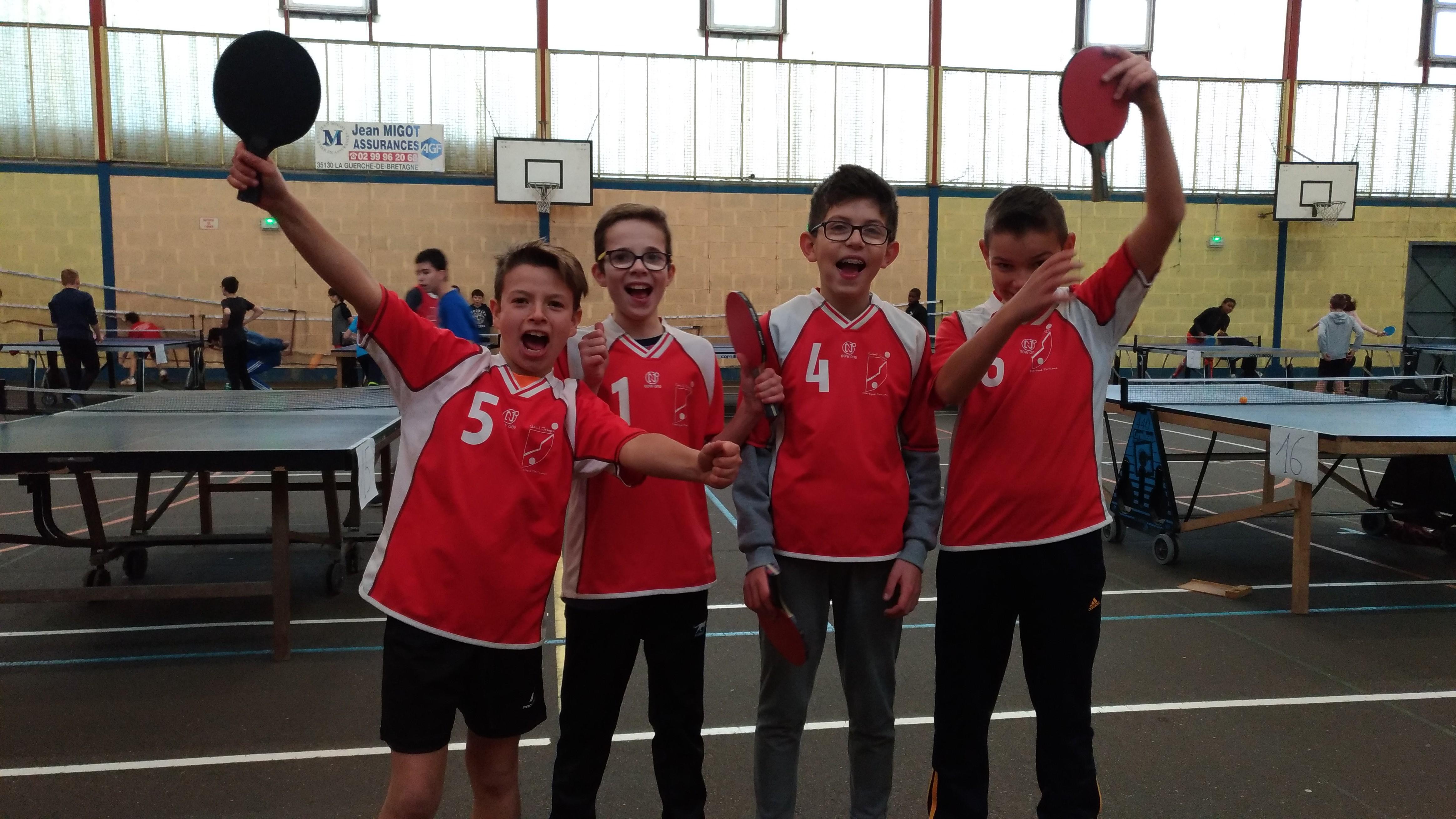Départemental Equipes UGSEL de Tennis de table