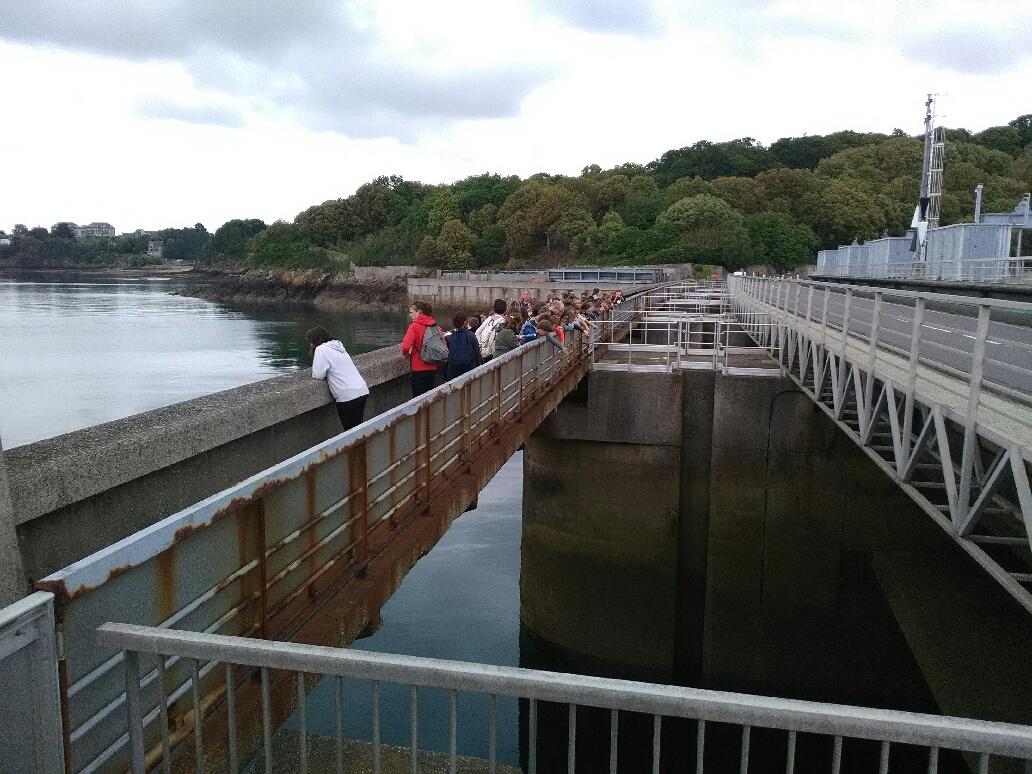 Sortie au barrage de la Rance pour les 6èmes