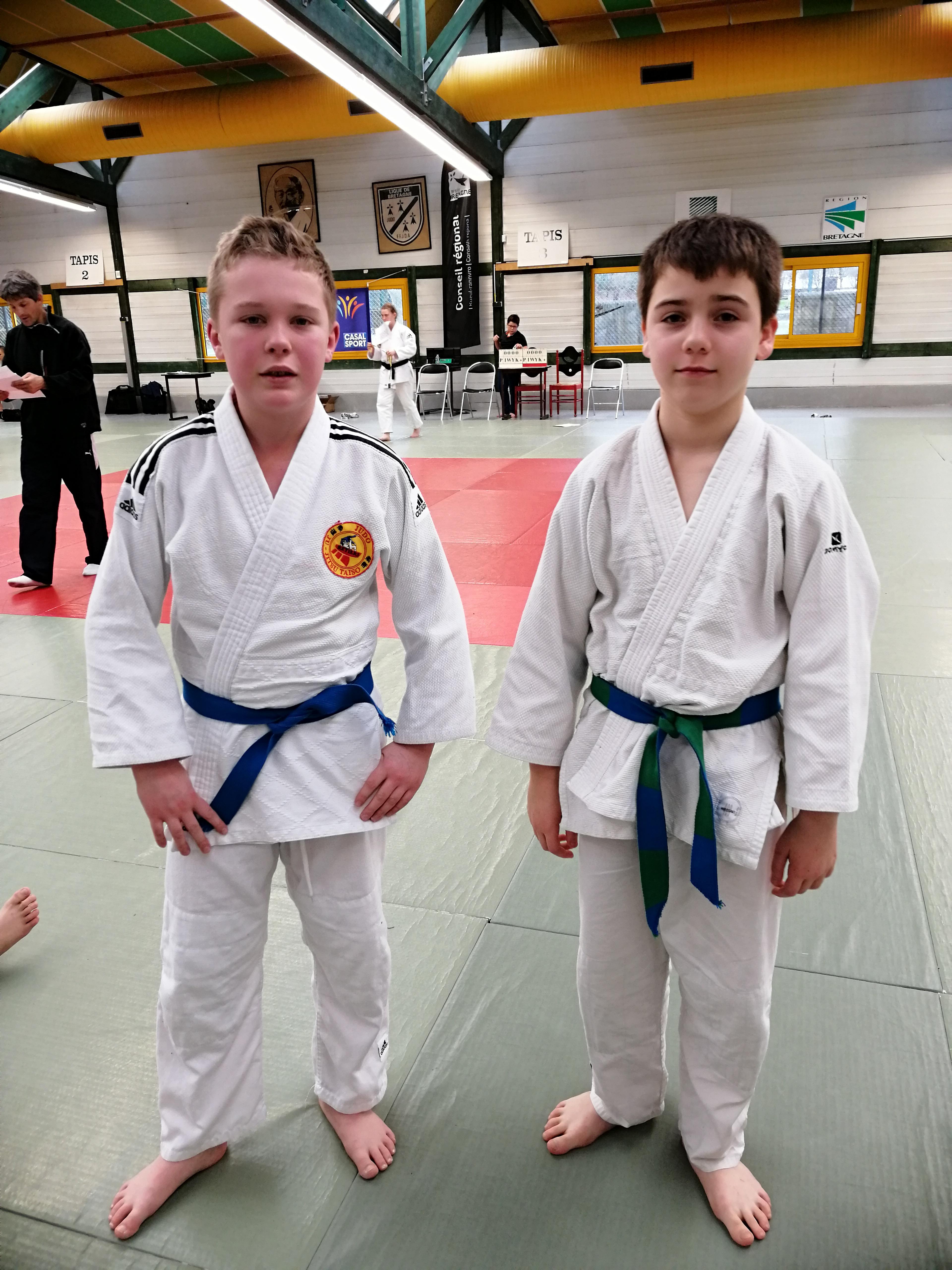 les judokas de Martigné à Rennes